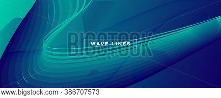 Dark Dynamic Wave. Flow 3d Concept. Vivid Geometric Shape. Dynamic Wave. Memphis Poster. Fluid Flyer