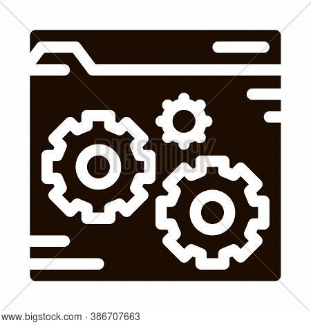 Fixing File Coding System Vector Icon. Binary Coding System, Data Encryption Pictogram. Web Developm
