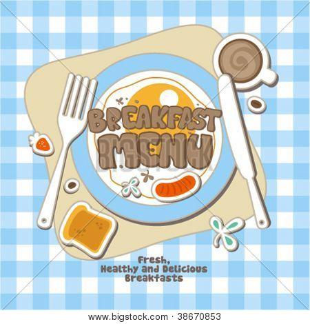 Breakfast Menu Card Design template.