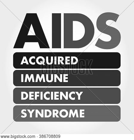 Aids - Acquired Immune Deficiency Syndrome Acronym, Health Concept Background
