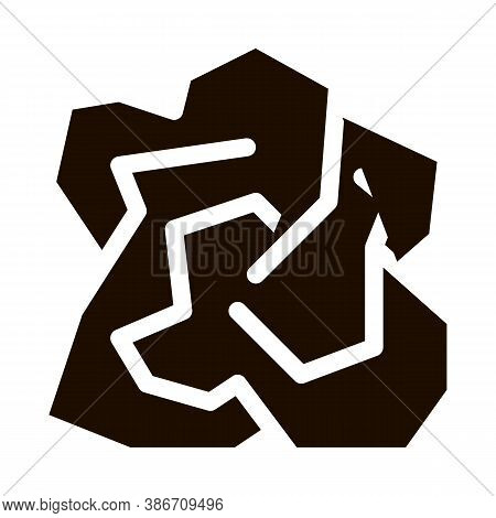 Crumpled Piece Of Paper Vector Icon. Ecological Fatal Down Environmental Pollution Impact Of Cast-of