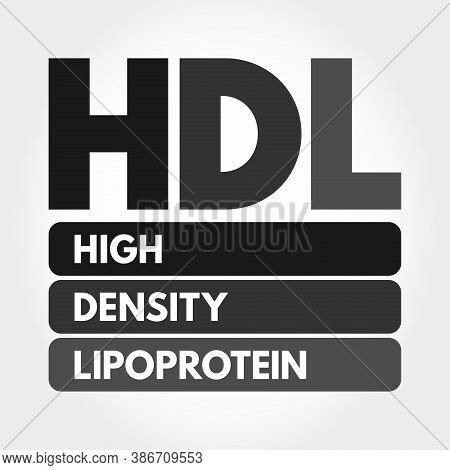 Hdl - High-density Lipoprotein Acronym, Medical Concept Background