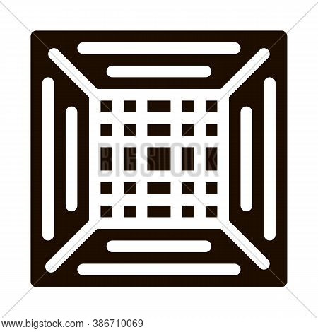 Office Climate Conditioner Vector Icon. Conditioner Electronic Temperature Comfort Technology, Insid