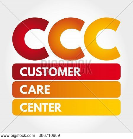 Ccc - Customer Care Center Acronym, Business Concept Background