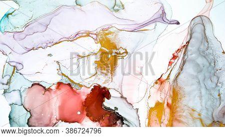 Decorative Invitation. Alcohol Ink Banner. Fluid Backdrop. Modern Decorative Invitation. Creativity