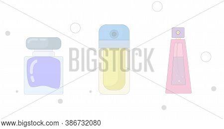Perfume Vector Flat Illustration On White Background. Perfume Flat Icon
