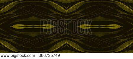 Seamless Safari Background. Fashion African Texture. Black Zebra Skin Pattern. Watercolor Stripes. W