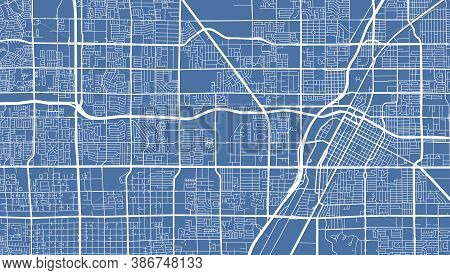 Detailed Map Of Las Vegas City Administrative Area. Royalty Free Vector Illustration. Cityscape Pano