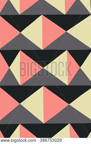 Geometry Minimalistic Artwork Poster With Simple Shape And Figure. Abstract Vector Pattern Design In