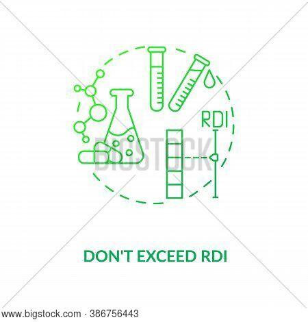 Rdi Excess Concept Icon. Adequate Vitamins Intake Idea Thin Line Illustration. Taking Vitamins Safet