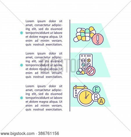 Daily Intake Of Supplements Concept Icon With Text. Pill Overdose. Time For Medicine. Ppt Page Vecto