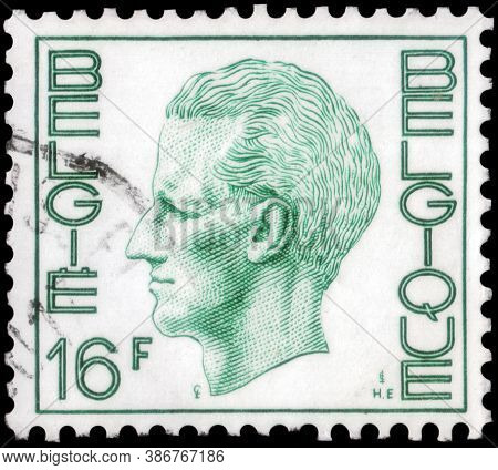 Saint Petersburg, Russia - September 18, 2020: Postage Stamp Issued In Belgium The Image Of The King