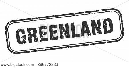 Greenland Stamp. Greenland Black Grunge Isolated Sign