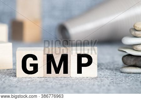 Gmp Word Made With Wood Building Blocks