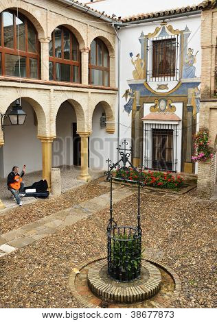 Patio Of The Ancient Spanish House