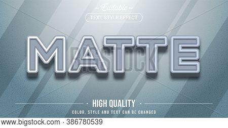 Editable Text Style Effect - Matte Color Theme Style. Graphic Design Element.