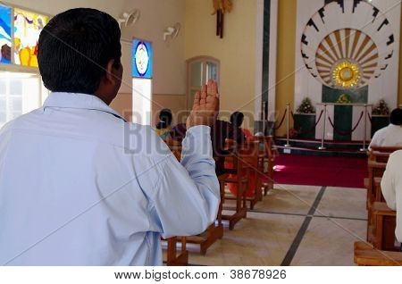 Indian Christian Praying