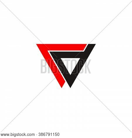 Abstract Letters Rd Triangle Line Arrow Geometric Logo Vector