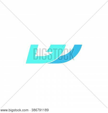 Abstract Letter W Geometric Waves Logo Vector