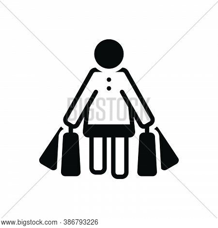 Black Solid Icon For Shopping Buy Consumer Prospective-buyer Purchasing Bag Carry Shopping-center Ma