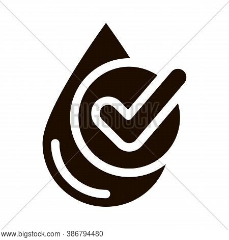 Healthy Water Drop Vector Sign Icon. Water Drop, Filter Liquid Clearing Pictogram. Recycling Environ