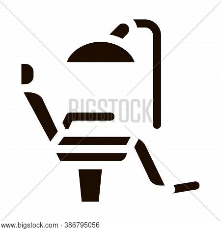 Stomatology Dentist Chair Vector Icon. Dentist Chair, Instrument Tool Equipment And Device Pictogram