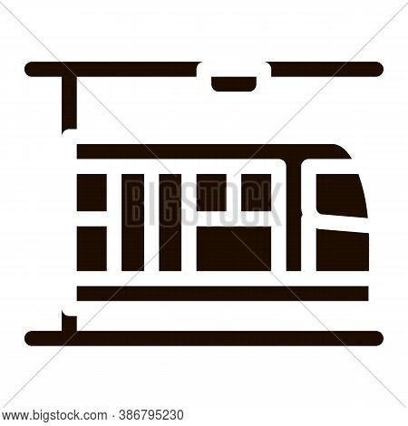 Public Transport Metro Vector Sign Icon. Underground Metro Train Urban Passenger Transport Pictogram