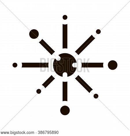 Microscopic Bacterium Germ Vector Icon Sign. Unhealthy Virus Allergen Bacterium Pictogram. Microbe T