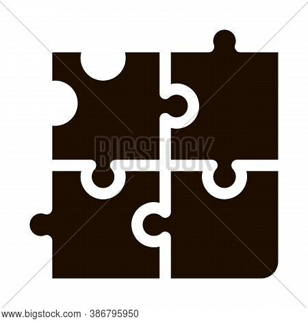 Interactive Kids Game Puzzle Vector Sign Icon . Baby And Adult Table Game Children Playing Gaming It