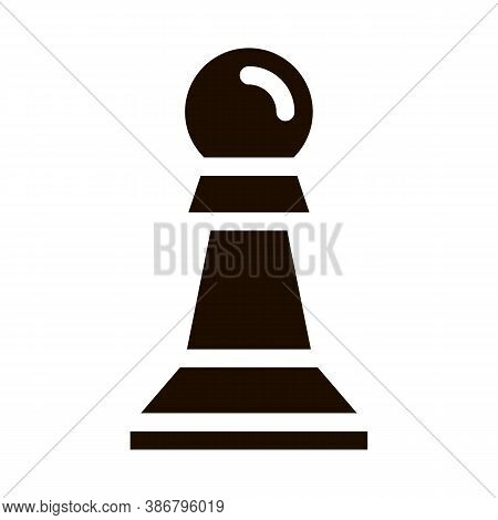 Interactive Kids Game Chess Vector Icon. Baby Education Play Chess Counter Figure Children Playing G