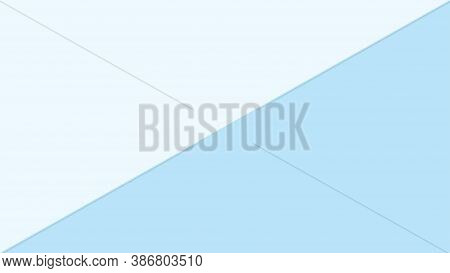 Light Blue Color Two Tone Pastel Soft For Background, Simple Blue Pastel In Top View, Minimalism Fla