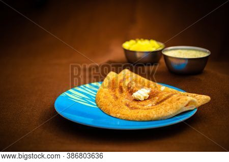Indian Special Dosa With Butter For A Healthy Home Made Breakfast