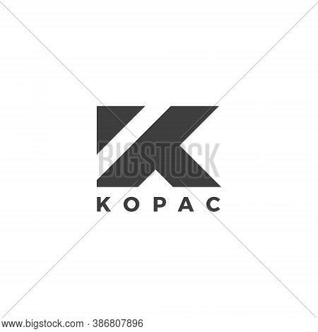 K Letter Lettermark Logo Monogram - Typeface Type Emblem Character Trademark