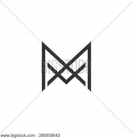 M A Letter Lettermark Logo Ma Monogram - Typeface Type Emblem Character Trademark