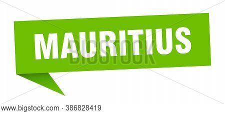 Mauritius Sticker. Green Mauritius Signpost Pointer Sign