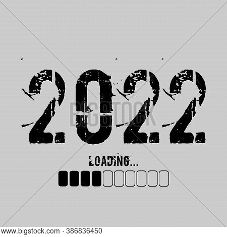 Progress Bar Showing Loading Of 2022 Year For Web