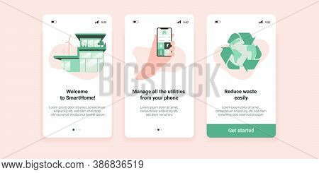 Sustainable Home Screens Of Mobile Application, Which Helps To Manage All The Urilities And Reduce E