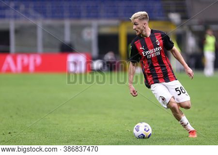 Milano, Italy. 24th September 2020. Uefa Europa League. Alexis Saelemaekers Of Ac Milan     During T