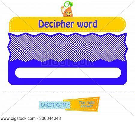 Decipher Word Victory Brainteaser