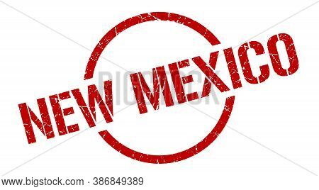New Mexico Stamp. New Mexico Grunge Round Isolated Sign