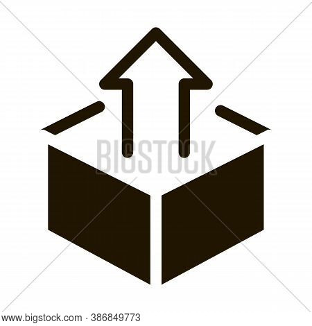 Box Container With Arrow Agile Element Glyph Icon . Agile Rocket And Document, Gear And Package, Lou