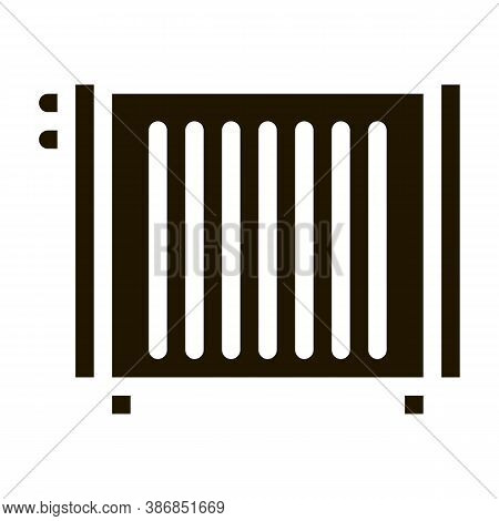 Home Water Radiator Heating Equipment Glyph Icon . Cool And Humidity, Airing, Ionisation And Heating