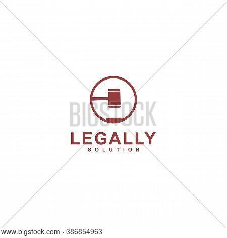 Law Logo Template Design Vector Icon Illustration