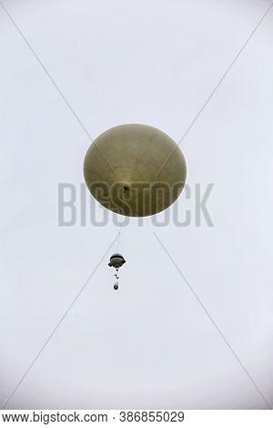 Meteorologic Probe On The White Ball On The Sky