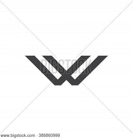 W Letter Lettermark Logo Monogram - Typeface Type Emblem Character Trademark