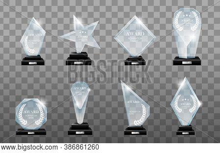 Winner Glass Trophy. Glass Trophy Award. First Place Award. Glass Awarding Trophy, Championship Win