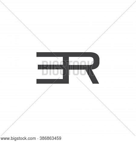 E R Letter Lettermark Logo Er Monogram - Typeface Type Emblem Character Trademark