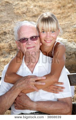 Granddad And Granddaughter