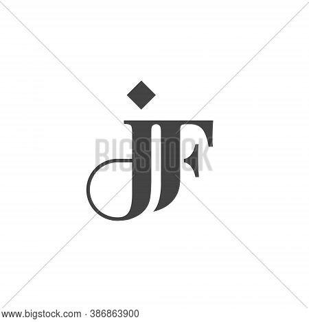 J F Letter Lettermark Logo Jf Monogram - Typeface Type Emblem Character Trademark