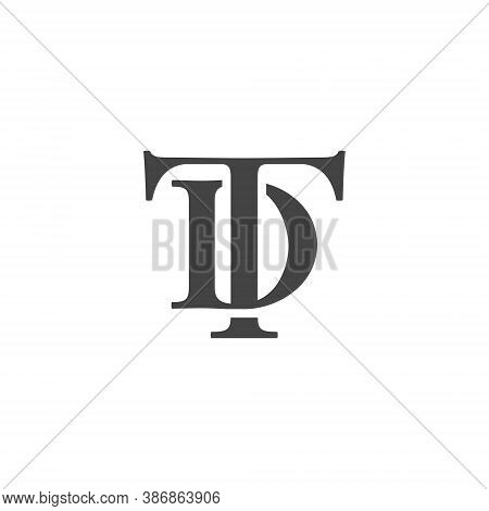 T D Letter Lettermark Logo Td Monogram - Typeface Type Emblem Character Trademark